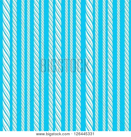 Rope lines seamless pattern on blue background