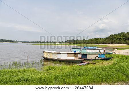 Old Fishing Houseboats
