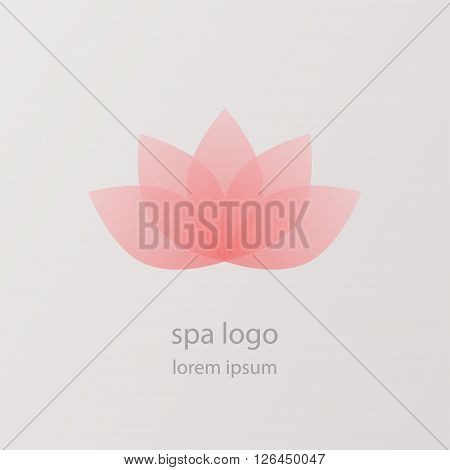 Lotus Flower Vector Logo. Health & Spa Creative Idea. Asian Culture Concept Symbol Icon.