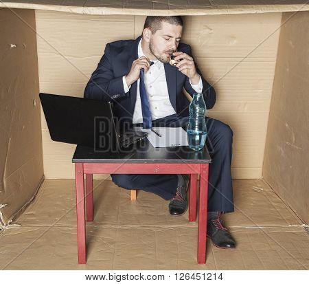 Businessman Stress Led To Alcoholism