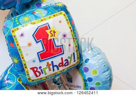 Colourful Birthday Balloon Decorations