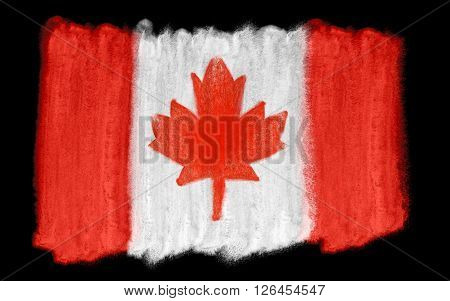 a watercolor illustration of the Canada flag