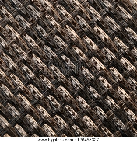 Craft wicker or rattan material for background