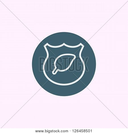 Ecology Shield Icon In Vector Format. Premium Quality Ecology Shield Symbol. Web Graphic Ecology Shi
