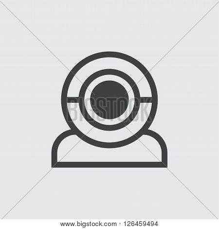 web cam icon, isolated on white background illustration