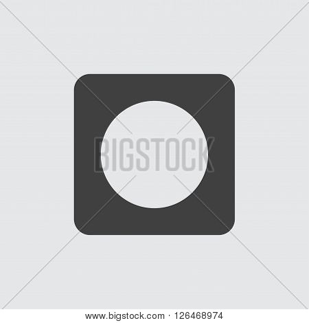 record button icon, isolated on white background illustration