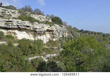 Chalk Cliffs below Kritou Tera Village Cyprus