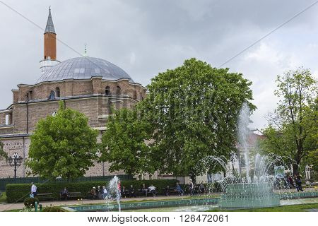 Sofia, Bulgaria - April 14: The Banja Baschi Mosque, Landmark And Biggest Mosque In April 14, 2016