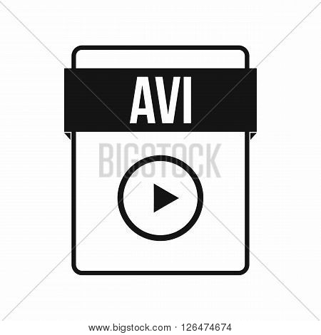 AVI file icon in simple style on a white background