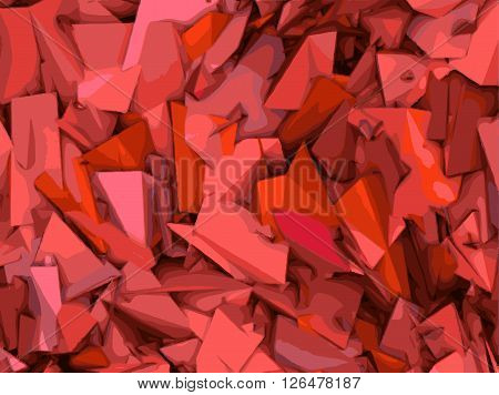 abstract shape backdrop pattern in pink and red