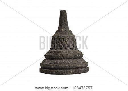 Selective focus Borobudur temple souvenir from Yogyakarta Java Indonesia