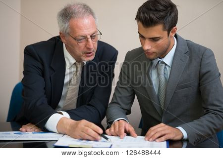 Business people at work in their office