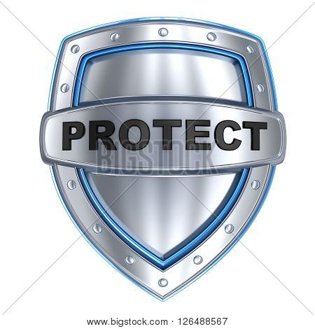 Shield and sign protect (done in 3d isolated)