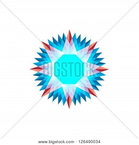 Twisted emblem patterns vector abstract modern illustration design colorful sign similar to a snowflake art