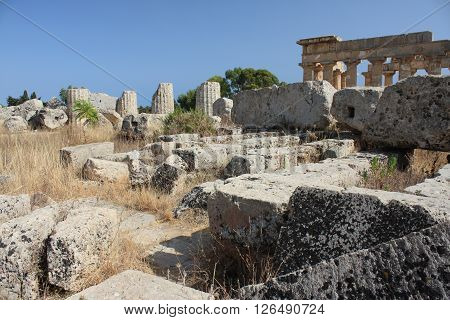 The Archaeological area of Selinunte in Sicily