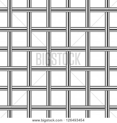 chrome metal grid seamless background vector illustration