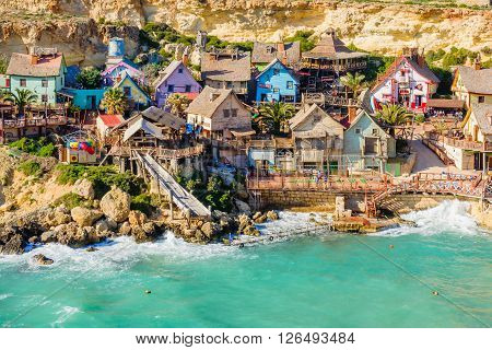 View Of The Popeye Village, Malta