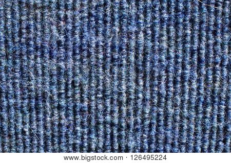 Corduroy canvas texture of a bus seat