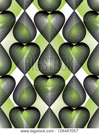 Vector Bright Stripy Endless Overlay Pattern, Art Continuous Geometric Background With Graphic Lines