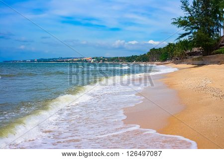 Sandy beach in Mui Ne, Vietnam, Southeast Asia