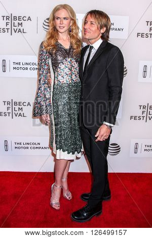 NEW YORK, NY - APRIL 16: Singer/ songwriter Keith Urban and actress/producer Nicole Kidman attend 'Youth In Oregon' Premiere - 2016 Tribeca Film Festival  on April 16, 2016 in New York City