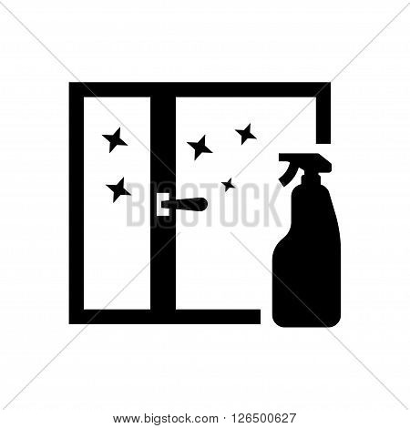 Clean window in flat style. Vector illustration. Vector symbols.