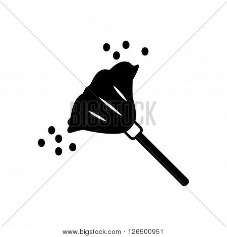 Broom for dust icon in flat style. Vector illustration. Vector symbols.