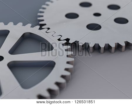 several gears stand for precision and teamwork