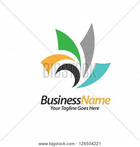 consulting logo concept related speed, fast, sun, active move, bloom logo vector