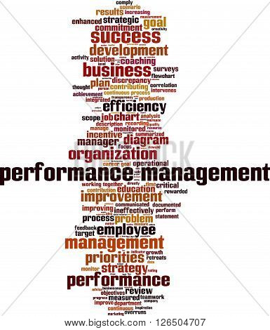 Performance management word cloud concept. Vector illustration
