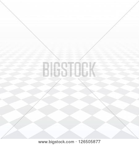 Abstract background - perspective tiled floor. Vector illustration.