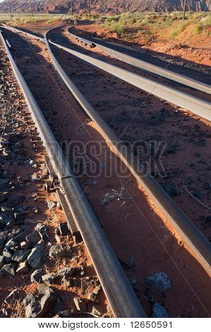 Railway Tracks In The Desert