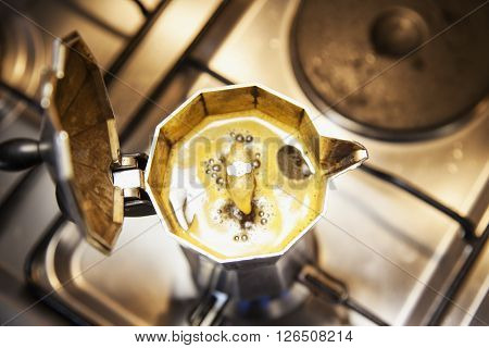 Coffeepot From Above