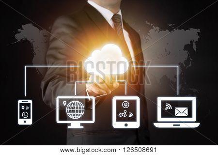 Cloud and data sharing high quality studio shot