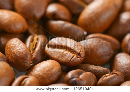 detail of coffee beans crop - full frame