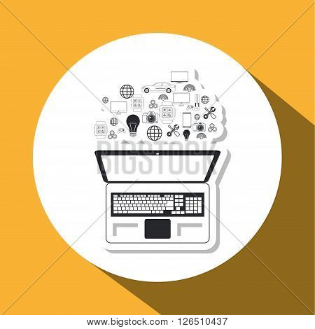 internet concept with things icon design, vector illustration 10 eps graphic.