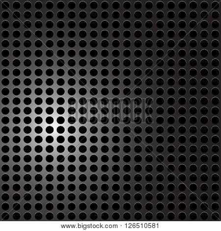 Black Metal - carbon holes background. Vector illustration.