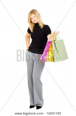 """smiling happy shopping lady  - See similar images of this """"Gorgeous shopping women"""" series in my portfolio"""