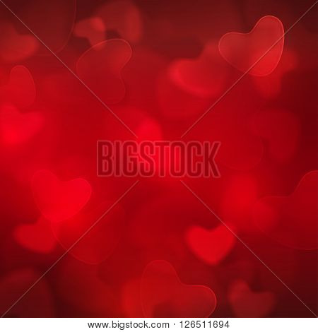 Vector - Abstract blurred square red boke background