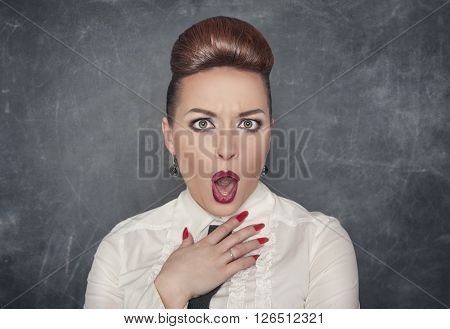 Surprised Indignant Woman