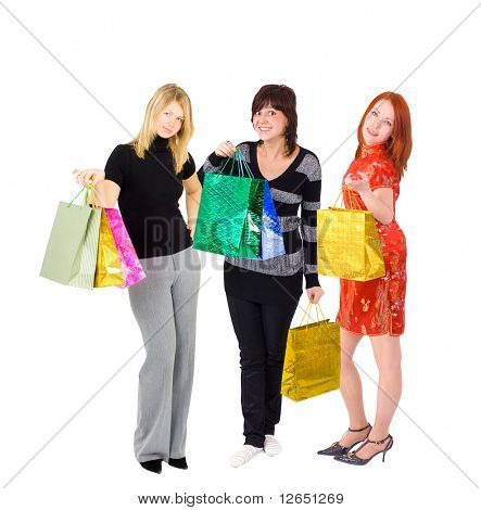 "three tall and happy  shopping ladies  - See similar images of this ""Gorgeous shopping women"" series in my portfolio"