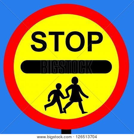 An illustration of a School crossing patrol order sign