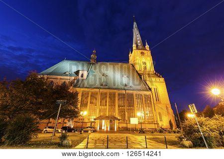 Cathedral Basilica of St. James the Apostle in Szczecin. Szczecin West Pomeranian Poland