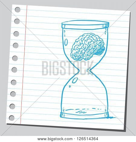 Brain in sand clock