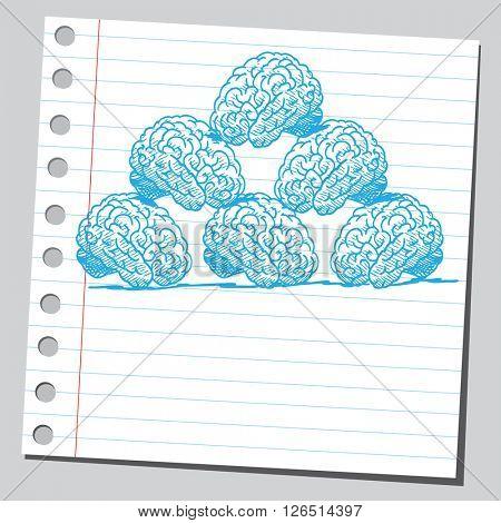 Brain pyramid