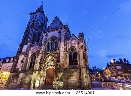 Saint-Germain Church in Amiens. Amiens Nord-Pas-de-Calais-Picardy France.