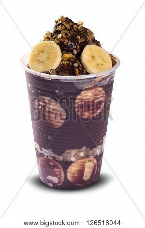 Bowl Of Fresh Brazilian Acai With Fruits