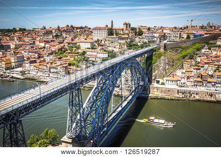 the bridge Dom Louis Porto Portugal .Europe .