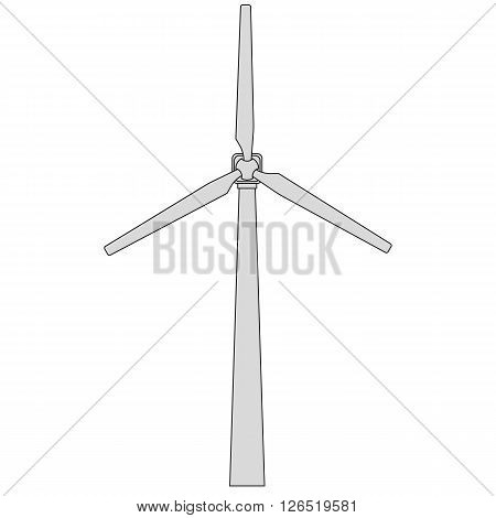 Wind generator with three blades. Vector EPS10