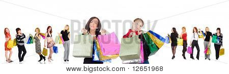 "shopping women group isolated - See similar images of this ""Groups of people"" series in my portfolio"